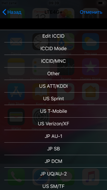 rsim iphone menu